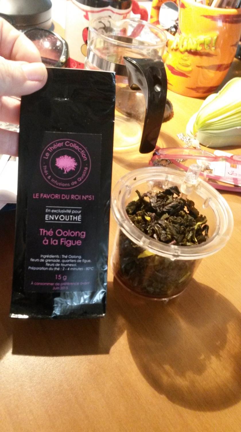 pour les amateurs de thé vert non amer... un vrai délice ! Le favori du roi n°51 - thé oolong à la figue