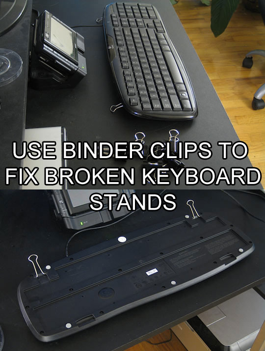 use-binder-clips-to-fix-keyboard-stand-life-hack