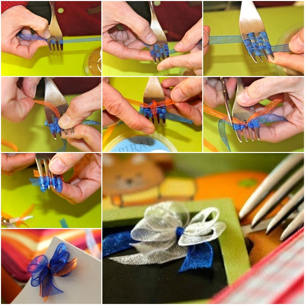 DIY-double-layered-ribbon-bow-with-fork